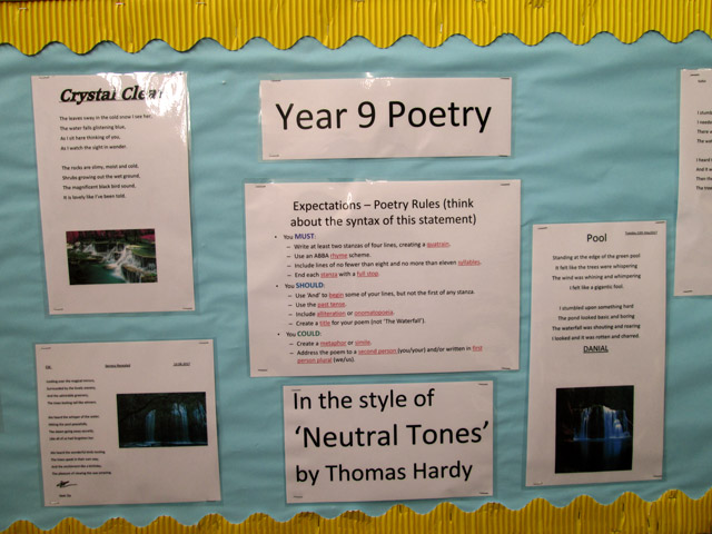Year 9 Poetry